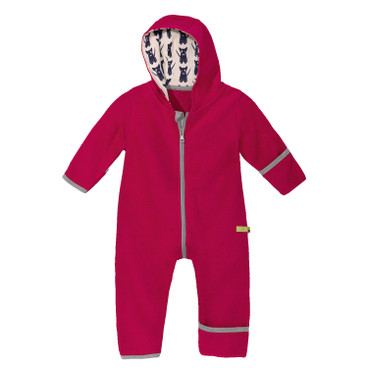 Baby-overall in fleece, rood