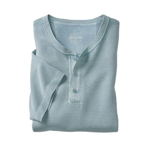 Shirt met korte mouwen en knoopsluiting, bleu L from Waschbär
