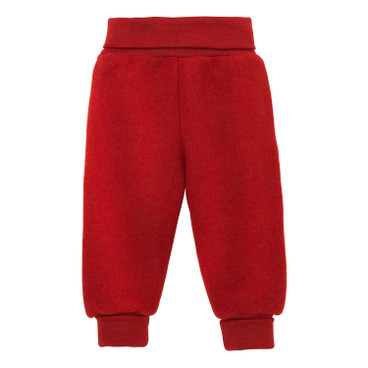 Wollen fleece babybroek, tomaat
