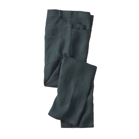 Linnen broek in 5-Pocket-Style, taxus 54