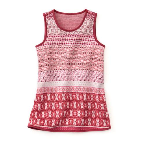 Gebreide jurk, mauve-motief 98/104