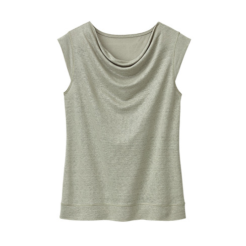 Linnen jersey shirt, donkerolijf 40/42