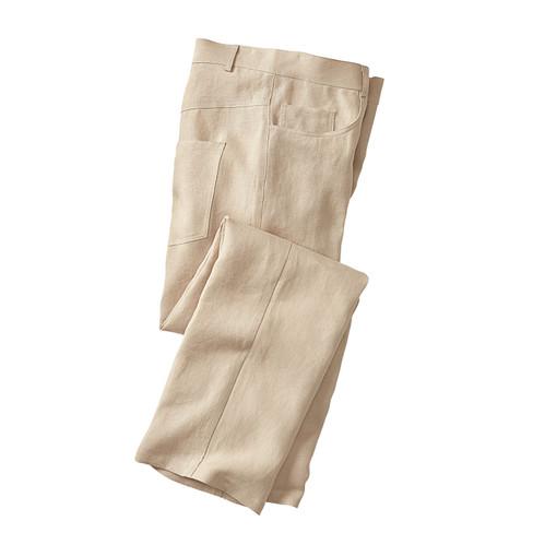 Gruenheld Linnen broek in 5-Pocket-Style, lei | Waschbär from Waschbär