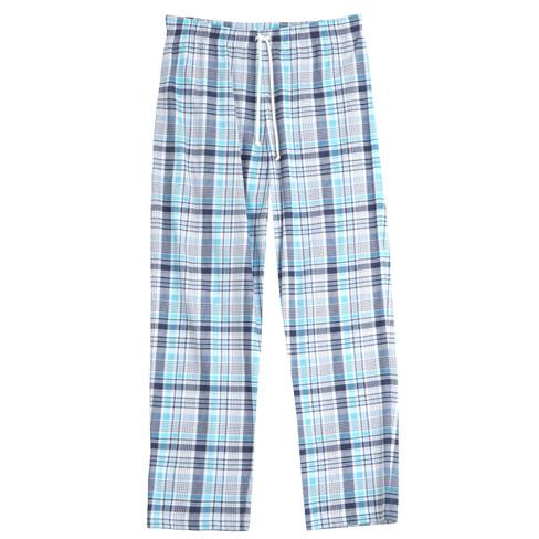 Pyjamabroek, wit/blauw-geruit 50/52