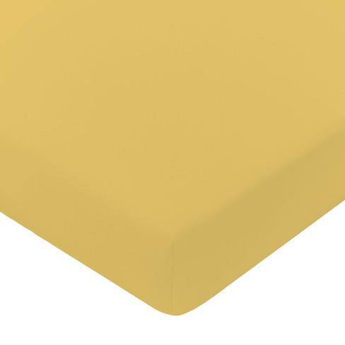 Satijnen hoeslaken, saffraan 140 � 200 cm