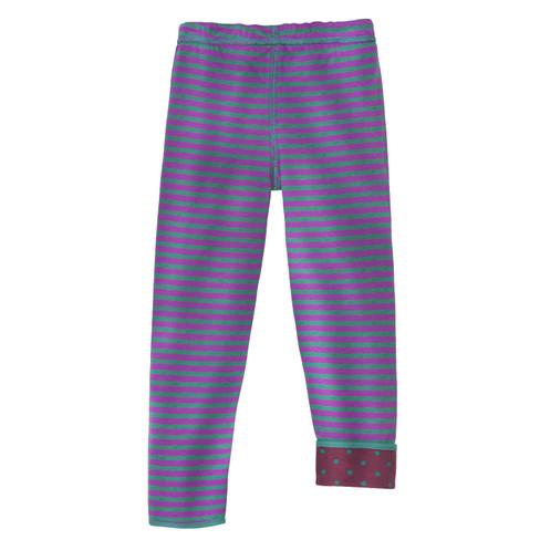 Keerbare legging van bio-katoen, bes/lila 122/128