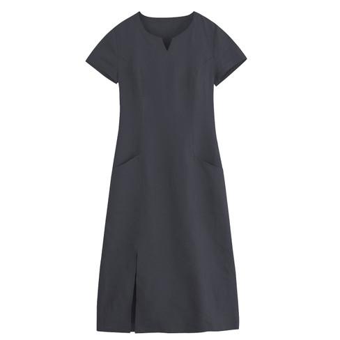 Linnen jurk, leisteen 42