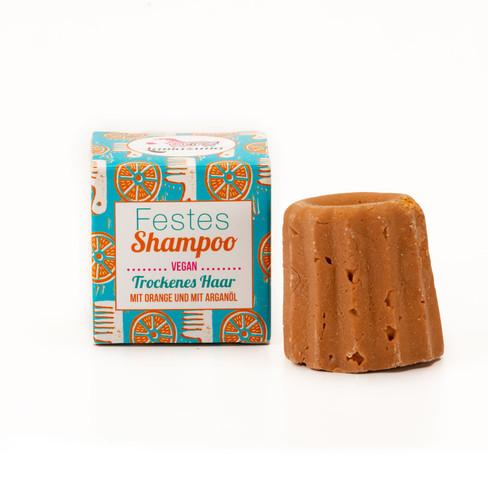 Vaste shampoo sinaasappel, 55 g