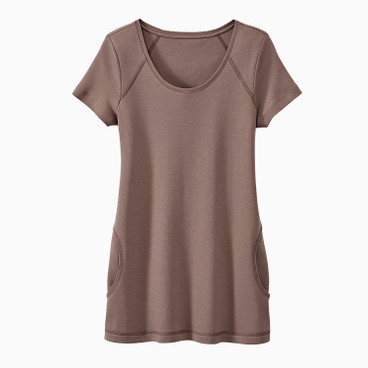 Jersey tunica, taupe