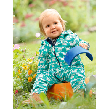 Baby outdoor-overall Bionic-Finish Eco, smaragd