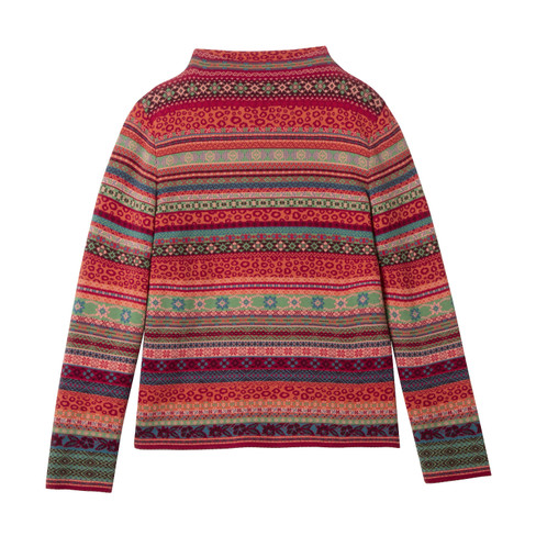 Jacquard-pullover, rood-motief 36/38
