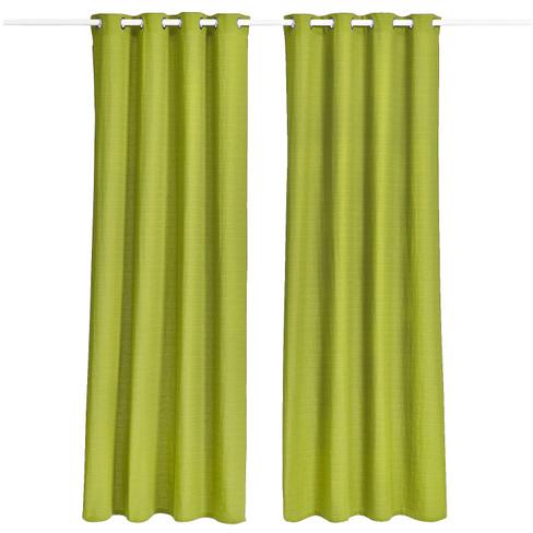 Bio-ringgordijn, 2 stuks, bamboe 135 � 245 cm