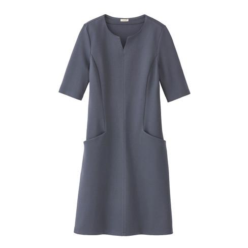 Mooie basic-jurk met tuniek-halslijn, nachtblauw 38