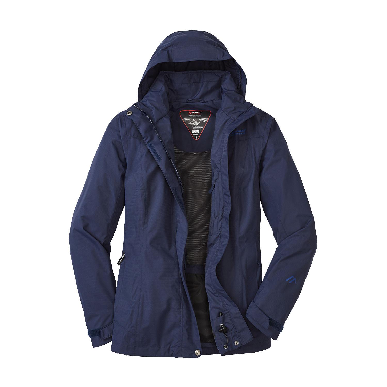 Dames functionele jas METOR, marineblauw