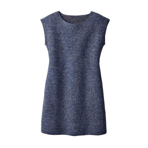 Walkstof jurk met korte mouwen, jeans 40