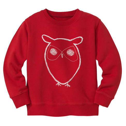 Pullover Uil, rot 122/128