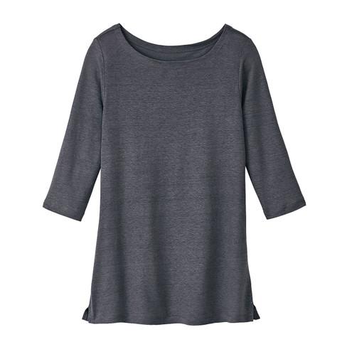Linnen-jersey shirt, Leisteengrijs 40