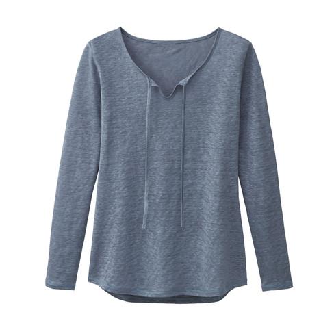 Linnen shirt, nachtblauw 38