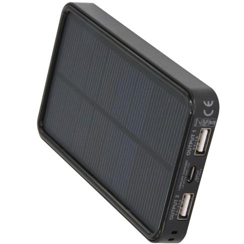 USB-oplader op zonne-energie Longlife green, zwart