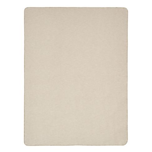 Katoen/scheerwollen deken, cr�me 140 � 200 cm
