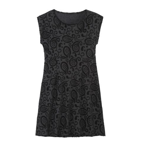 Intarsia jurk kort, zwart 44