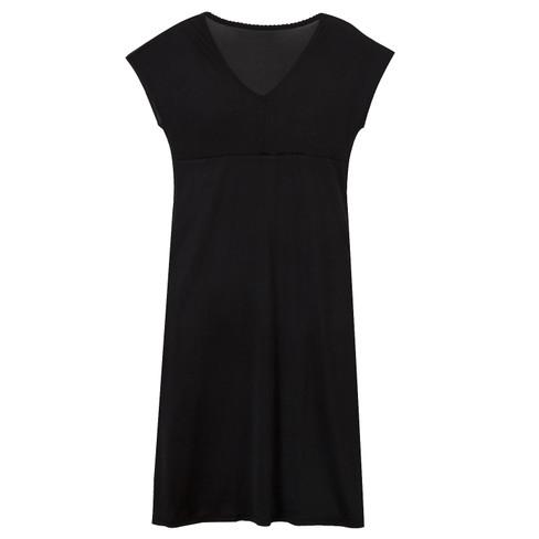 Zijden nachtjapon uit Organic Silk, zwart 44/46