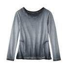 Sweatshirt 1/1-m., leisteen