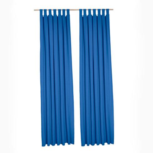 Biologisch lusgordijn, 2 stuks, blau 135 � 245 cm