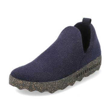 "Walkstof slipper ""City"", marineblauw"