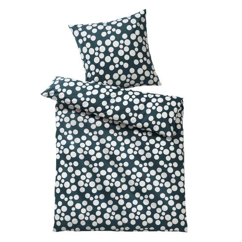 Jersey-beddengoedset stippen, kwarts-naturel 80 � 80 + 155 � 220 cm