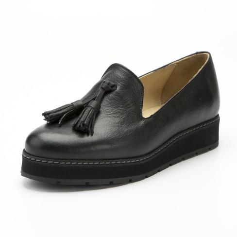 Lage bio-schoen, zwart 36