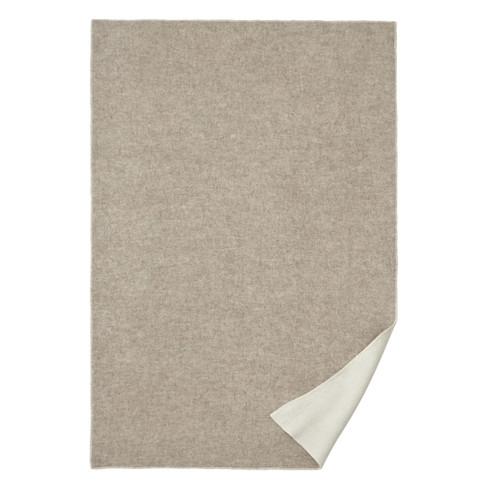 Omkeerbare deken van scheerwol, beige-natuur 140 x 220 cm