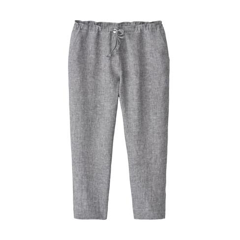 Lichte 7/8-broek van linnen, grijs gemêleerd 44