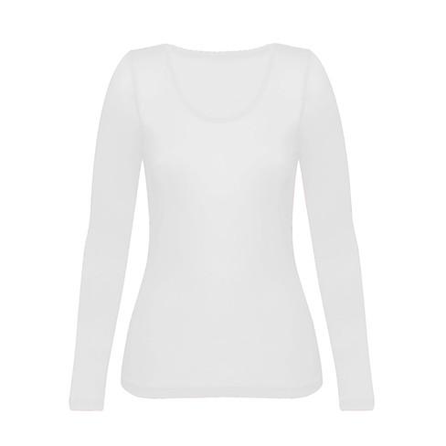 Enna, biologisch zijden shirt met lange mouwen, natuur 34