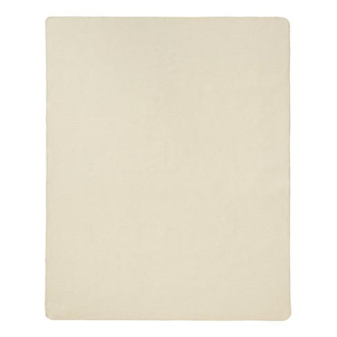 Scheerwollen deken, wolwit 155 x 200 cm