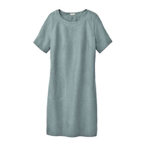Linnen jurk, waterblauw 42