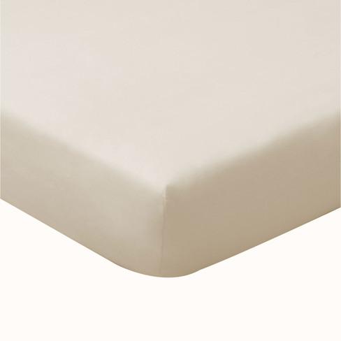Biojersey hoeslaken, naturel 180 x 200 cm