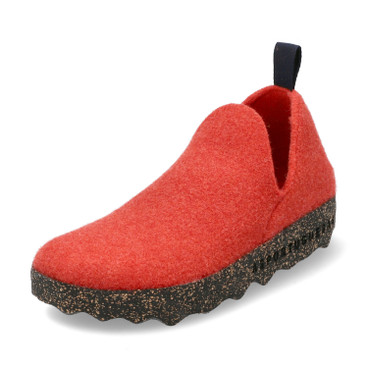 "Walkstof slipper ""City"", rood"