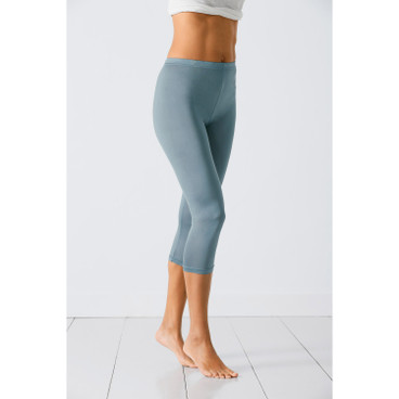 Zijden 3/4-leggings, bordeaux
