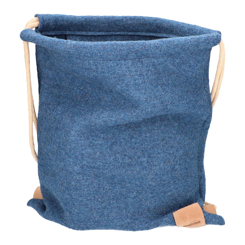 Magicfelt Walkstof buidel, jeansblauw | Waschbär Eco-Shop from Waschbär