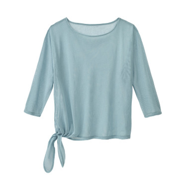 Tulen shirt, waterblauw