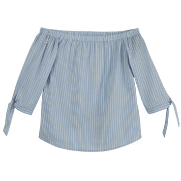 Off Shoulder bloes, ice blue