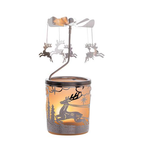 Glas-carrousel-windlicht Rendieren