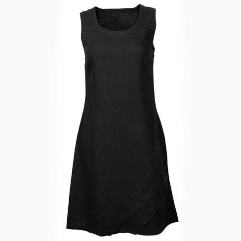 Linnen jurk, zwart 38