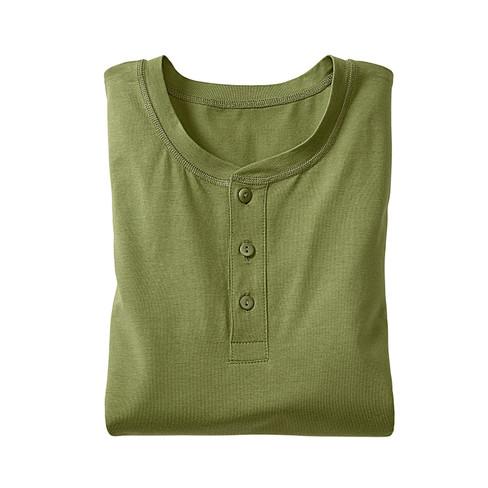 Shirt met knoopsluiting en lange mouw, varengroen L