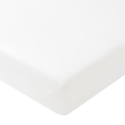 Bioflanellen hoeslaken, Wit 180 x 200 cm