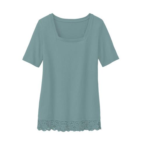 Carr�-shirt met kant, gletsjer 44