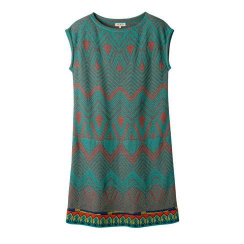 Jacquard-gebreide jurk met pastelkleurige motieven, kleurrijk 38