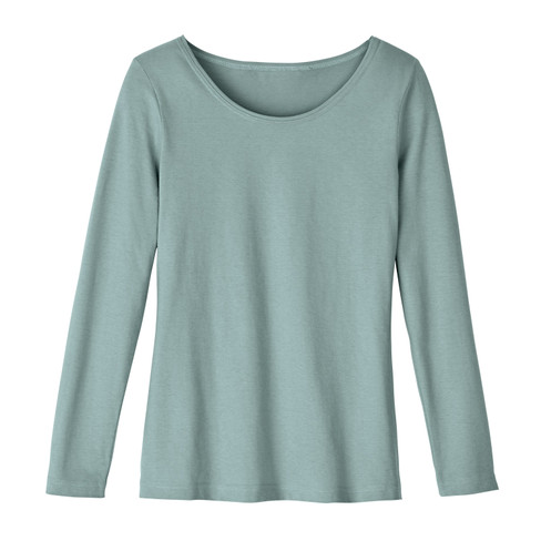Shirt met ronde hals van bio-katoen, gletsjer 36
