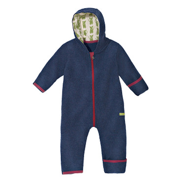 Baby-overall in fleece, blauw